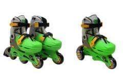 Набор роликовые коньки, защита, шлем Moby Kids зеленый