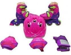 Набор ролики 2в1, шлем и защита для девочек