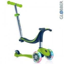 Самокат Globber Evo со светящимися колесами зеленый