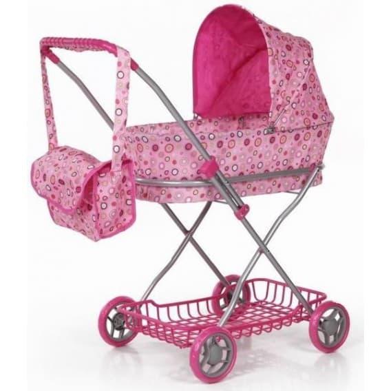 Высокая коляска для кукол с сумкой 73,5 см Melobo 9325