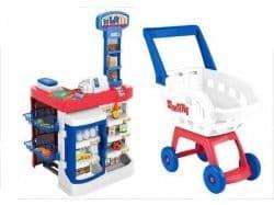 Супермаркет с тележкой для покупок Smart