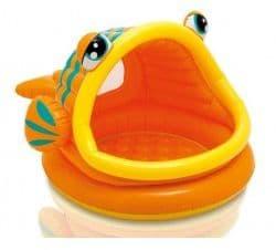Надувной бассейн Рыбка Intex 124х109х71 см