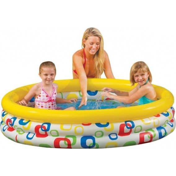 Надувной бассейн Забавные мячики Intex 168х38 см