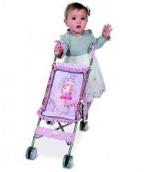 Коляска-трость для кукол Мария с чехлом розовая