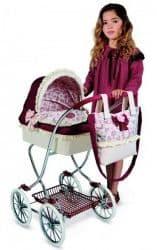 Классическая коляска для куклы Мартина с сумкой 90 см