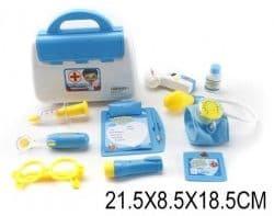Набор доктора в сумочке, синий, 9 предметов