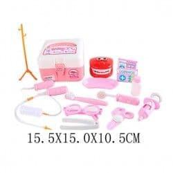 Чемоданчик стоматолога, 16 предметов, розовый