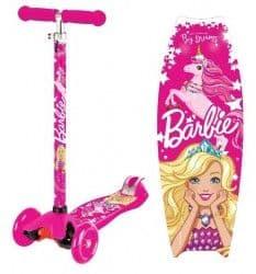 Трехколесный самокат Barbie new 2018 розовый