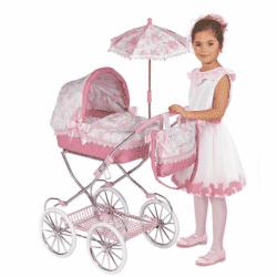 Коляска для кукол Даниэла с зонтиком и сумкой 81 см