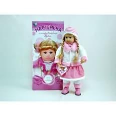 Кукла интерактивная Настенька (смеется, плачет, ведет диалог с мимикой)