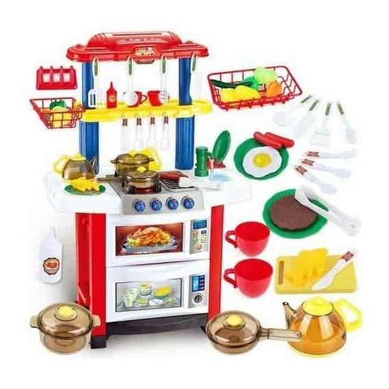 Игровая кухня Little Chef со светом, звуком и водой 33 элемента