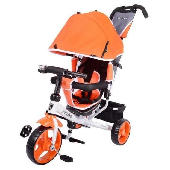 Трехколесный велосипед Moby Kids Comfort EVA 10x8 оранжевый