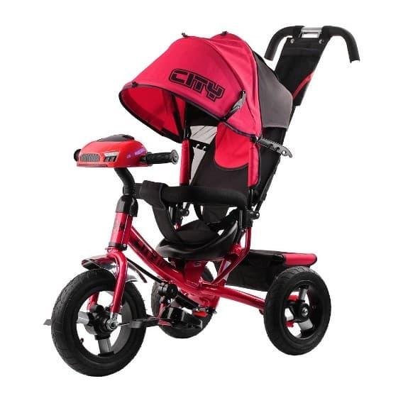 Детский трехколесный велосипед CITY H7HB new 2018 с большими колесами
