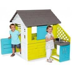 Игровой Smoby домик с кухней синий