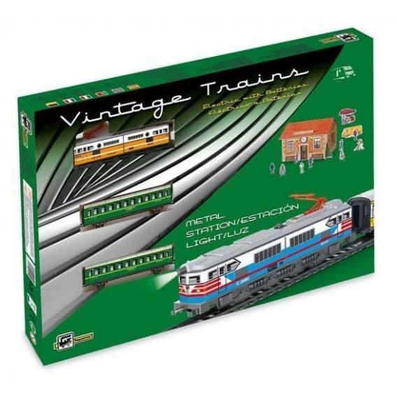 """Железная дорога """"Классический пассажирский поезд"""" со станцией и светом"""