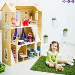 """Домик для Барби """"ШАРМ"""" (2 лестницы, мебель)"""