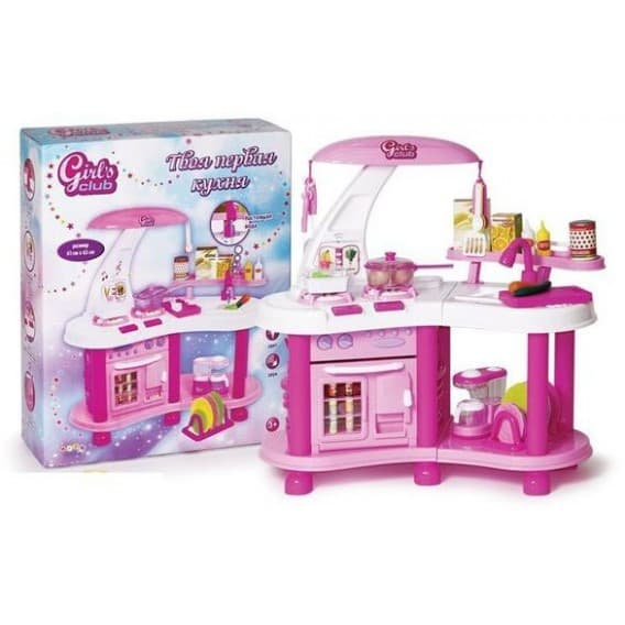 Детская кухня Girl's club с водой, светом и звуком
