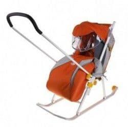 Санки-коляска Ника детям 3 с перекидной ручкой