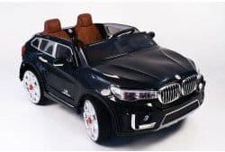 Двухместный электромобиль RiverToys BMW M333MM с кожаным сиденьем