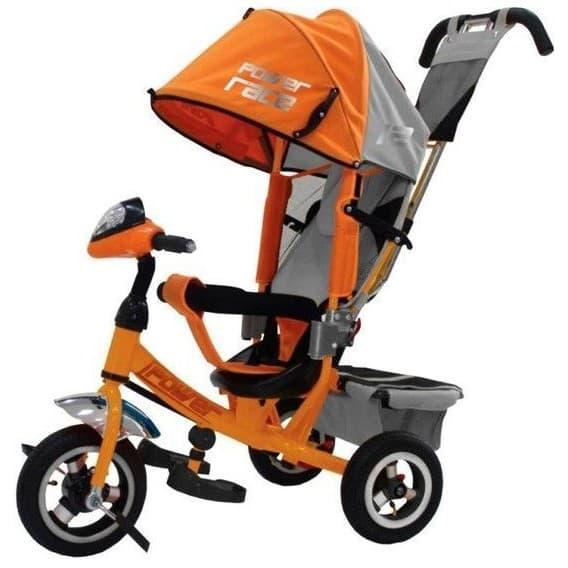 Велосипед с фарой Trike Power Race оранжевый