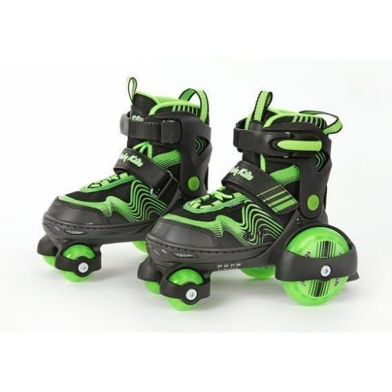 Роликовые коньки-квады Moby kids зеленые 30-33