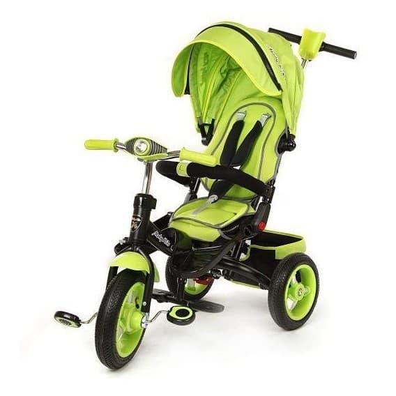 Трехколесный велосипед Moby Kids Leader-2 зеленый