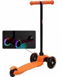 Самокат ButterFly со светящимися колесами оранжевый