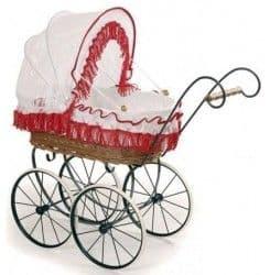 Кукольная коляска GZ Ретро плетеная