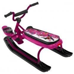 Снегокат Ника Джамп с велорулем розовый (сноубордистка)