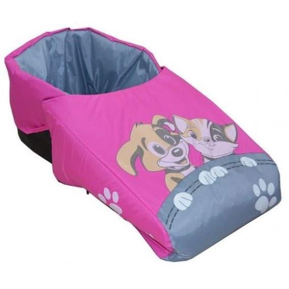 """Матрасик """"Котенок и щенок под одеялом"""" с попоной"""