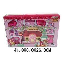 Вилла Shantou Gepai розовая с набором мебели