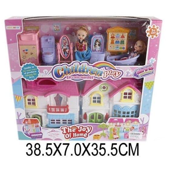 Вилла Shantou Gepai с аксессуарами и куклами