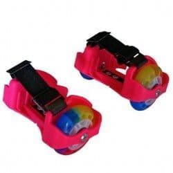 Двухколесные ролики Moby Kids розовые со светящимися колесами