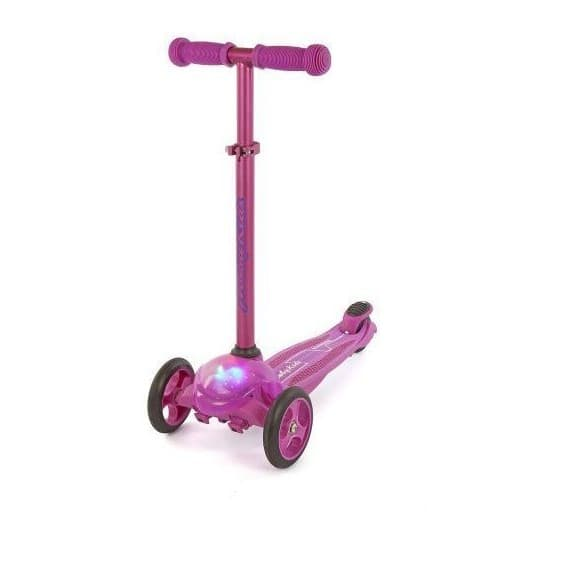 Самокат Moby kids со светом пурпурный