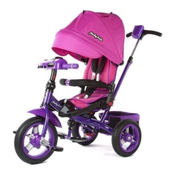 Велосипед-трансформер Moby Kids 360 с фарой розовый