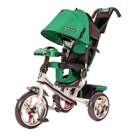 Велосипед Moby Kids Comfort 12/10 с фарой зеленый