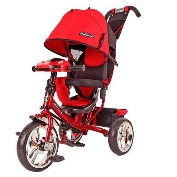 Велосипед Moby Kids Comfort 12/10 с фарой красный