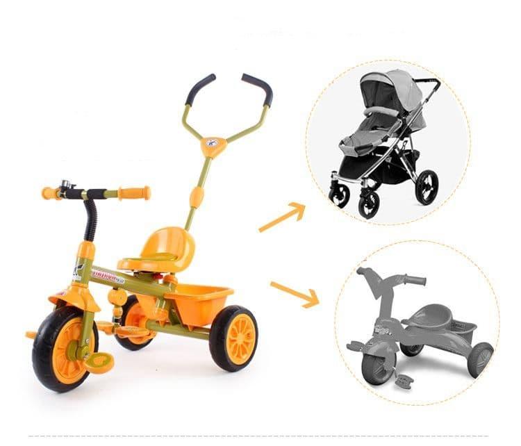 функционал детских велосипедов с ручкой
