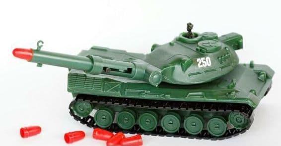 Радиоуправляемые танки стрельба снарядами с помощью пружинного механизма купить