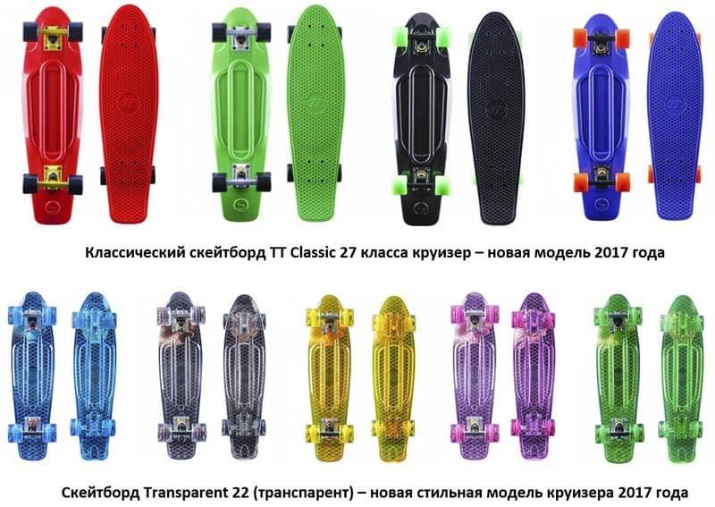 Скейтборды, лонгборды и роллерборды – для детей и взрослых