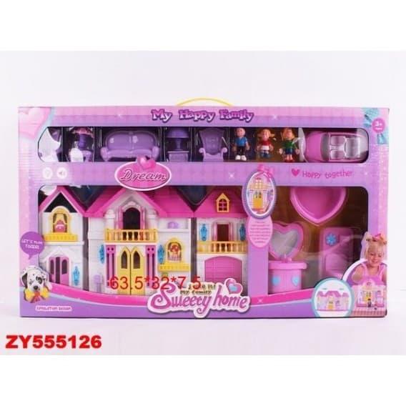 Домик для кукол с мебелью, звуковыми и световыми эффектами