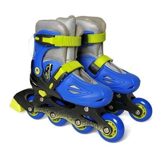 Пластиковые роликовые коньки Moby Kids синие