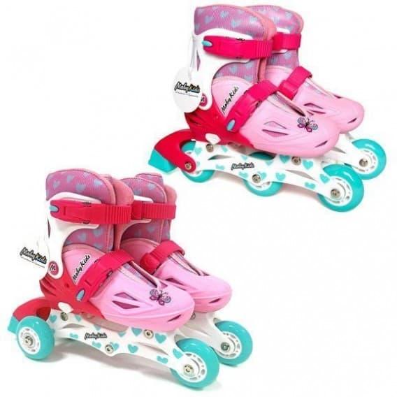 Роликовые коньки 2 в 1 Moby Kids розовые