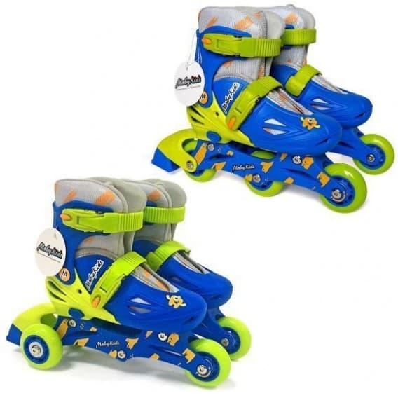 Роликовые коньки 2 в 1 Moby Kids синие