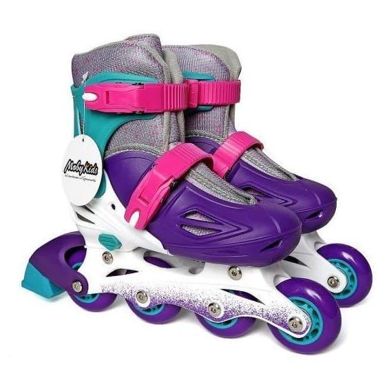 Пластиковые роликовые коньки Moby Kids фиолетовые
