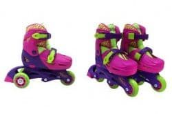 Набор роликовые коньки, защита, шлем Moby Kids розовый