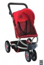 Коляска для кукол Coloma URBAN RED со сдвоенными передними колесами