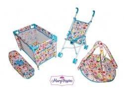 Набор 3в1 Фантазия (кроватка, коляска, коврик для куклы 38-43 см)