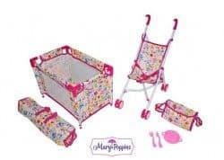 Набор 3в1 Фантазия-2 (кроватка, коляска и аксессуары)