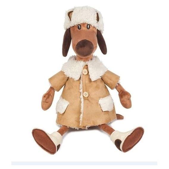 Мягкая Игрушка Пес Ипполит в Дубленке 36 см